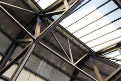 Structure of steel and glass, detail Royalty Free Stock Images
