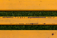 Structure of steel grandstand,steel stand cheer painted color.  Royalty Free Stock Photos