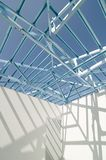 Structure of steel roof-01 Royalty Free Stock Image