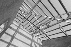 Structure of steel roof. Stock Photography