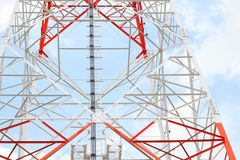 Structure of telecommunication tower Royalty Free Stock Image