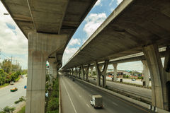 Structure to transportation freeways Stock Image