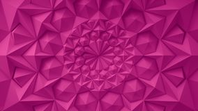 Pink geometric triangle wall waving background. Seamless loop 4K UHD vector illustration