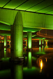 Structure under motorway at night Stock Images