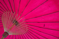 Structure under a pink umbrella Royalty Free Stock Photo
