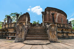 Structure unique to ancient Sri Lankan architecture. Royalty Free Stock Photography