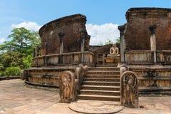 Structure unique to ancient Sri Lankan architecture. Stock Photography