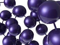 Structure violette de molécule Photo libre de droits