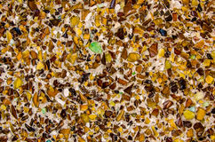 Structure of wall with small pieces of recycled glass Royalty Free Stock Image
