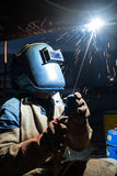Welding work. Structure welding work and iron Stock Images