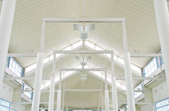 The structure white roof. Royalty Free Stock Photos