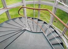 Structure of winder. Winder, steps which are curved in plan Royalty Free Stock Photography