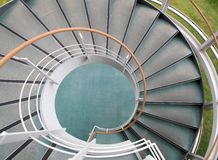 Structure of winder. Winder, steps which are curved in plan Royalty Free Stock Image