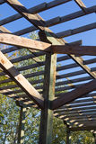 Structure of wood for climbing plants Stock Photo