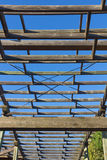 Structure of wood for climbing plants Royalty Free Stock Images