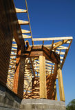 Structure wooden. Structure of a wooden house under construction, in Frence Royalty Free Stock Photo