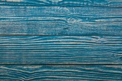 The structure of the wooden background of the boards light turquoise color. The wooden surface of the boards of light turquoise color by close up royalty free stock image