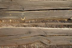 Structure of wooden beam Royalty Free Stock Images