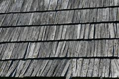 Structure of a wooden roof Royalty Free Stock Photos