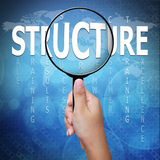 Structure, word in Magnifying glass Royalty Free Stock Photo