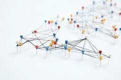 Structure of world economy, communication network stock photography