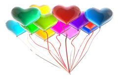 Structured balloons Stock Photography