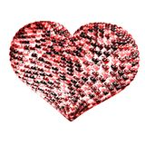 Structured hearts. Several balloons form a structured heart Royalty Free Stock Photography