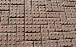 Structured pavement blocks Stock Photos