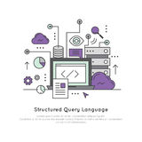Structured Query Language SQL Royalty Free Stock Photo