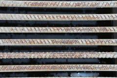 Structureel staal voor de bouw van stichtingen royalty-vrije stock afbeelding
