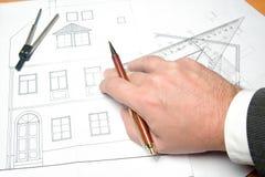 Structurele tekening Royalty-vrije Stock Afbeeldingen