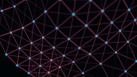 Structurele verbinding van informatie Gegevensoverdracht in netwerkverbinding Abstracte gegevensachtergrond het 3d teruggeven vector illustratie