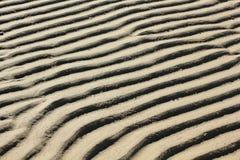 Structuren in het zand Stock Foto's