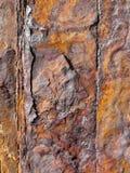 Structuren van roestig ijzer Stock Afbeelding