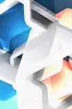 Structures abstraites avec les taches bleues et jaunes 3 d Photos libres de droits