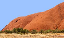 Typical Australian landscape and Unesco Ayers Rock Royalty Free Stock Photo