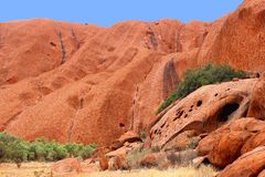 Structures in the Unesco Ayers Rock in Australia Royalty Free Stock Image
