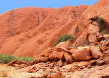 Structures in the Unesco Ayers Rock in Australia Stock Image