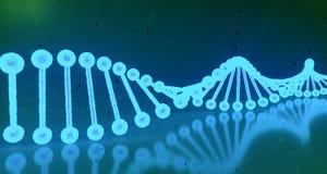 Structures détaillées d'ADN d'humain abstrait sur le fond d'hexagone 3d Images libres de droits