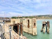 Structures en béton en mer Images libres de droits