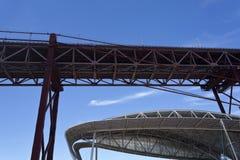 Structures métalliques de Lisbonne Images stock