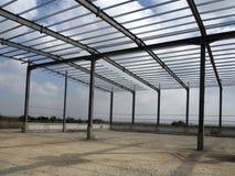 Structures métalliques du bâtiment industriel Photos libres de droits