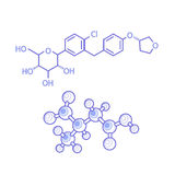 Structures of molecules abstract Stock Images