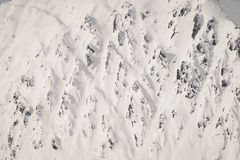 Structures in the mountain. Freeriding in Mayrhofen ski resort, austria Royalty Free Stock Photography