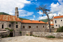 Structures. Old house in Budva with dead tree near it Stock Photography