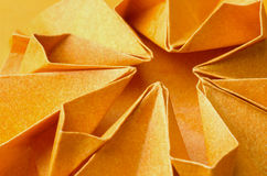 Structures of orange paper flower Royalty Free Stock Images