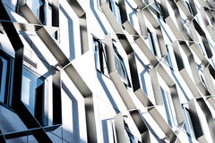 Structures and Shadows. Interesting shadows cast upon a building`s design stock images