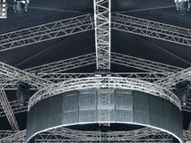 Structures of stage illumination Royalty Free Stock Photos