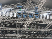 Structures of stage illumination lights equipment Stock Images