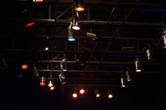 Structures of stage lights equipment Royalty Free Stock Photo